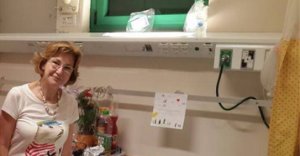 גרמן בביקור בסורוקה ביולי 2014. מתוך דף הפייסבוק שלה